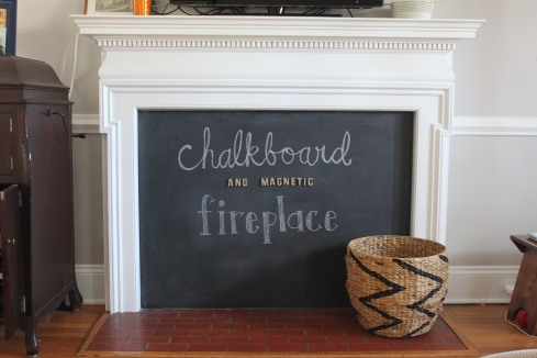 chalboard fireplace
